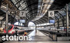 Main railway train stations in Barcelona Spain.