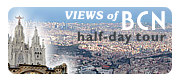 Half-day tour to Montjuic hill and Tibidabo hill