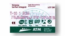 T10 metro ticket - metro travel card Barcelona