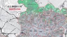 Map Barcelona barrios neighbourhoods