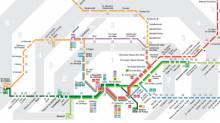PDF map Cercanías / Rodalies trains Barcelona