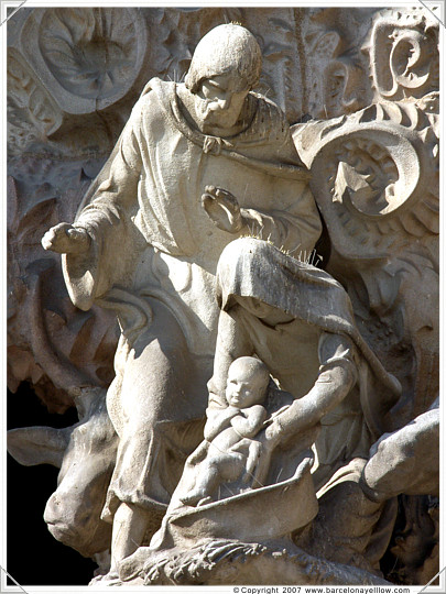 Nativity facade details Sagrada Familia