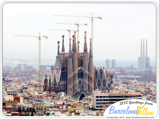 La Sagrada Familia sky line 2012