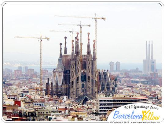 La Sagrada Familia sky line 2012