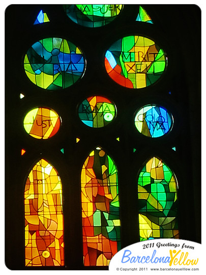 La Sagrada Familia stained glass windows