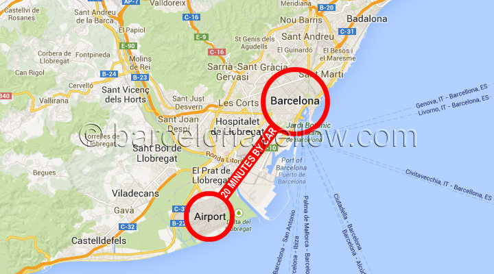 Map Barcelona airport