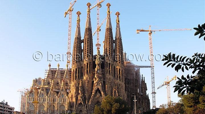 Gaudi's still unfinished church - La Sagrada Familia in Barcelona
