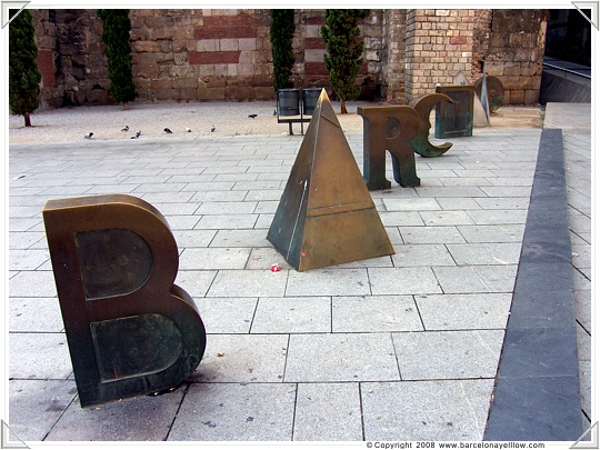 Barcino letters Barcelona