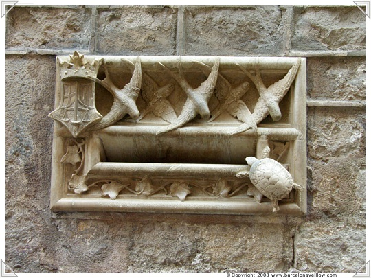 Letter box on Bishops Palace Barcelona