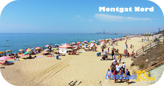 Montgat beach north of Barcelona
