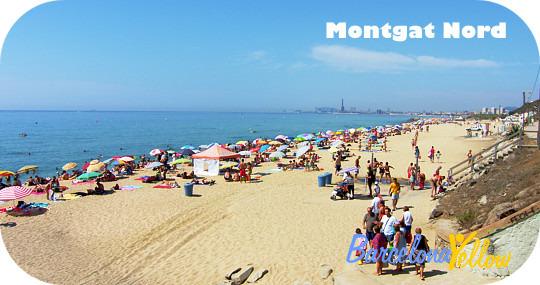 Montgat beach north of Barcelona