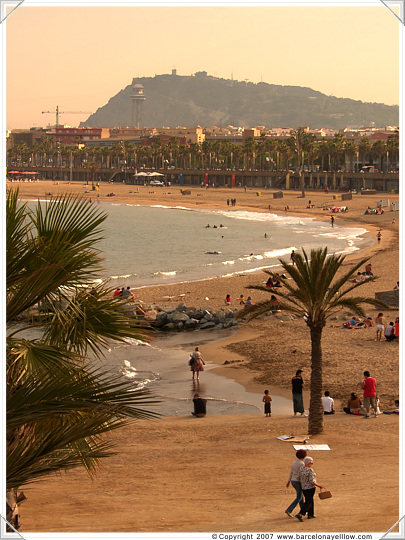 Barceloneta beaches seen from Port Olimpic