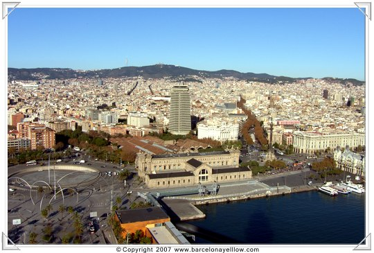 View of Barcelona from cable car