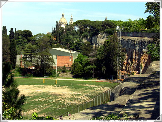 Barcelona Foixarda climbing wall Montjuic