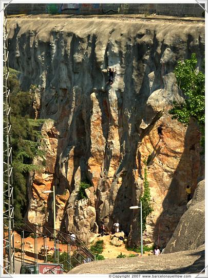 Barcelona Foixarda climbing wall Montjuic