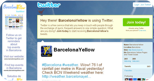 BarcelonaYellow Twitter
