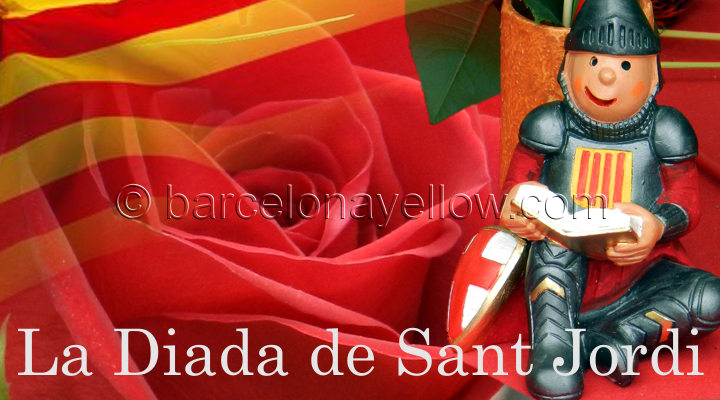 Barcelona Sant Jordi's day - Roses and Books