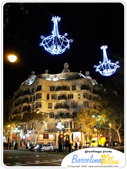 La pedrera at Christmas