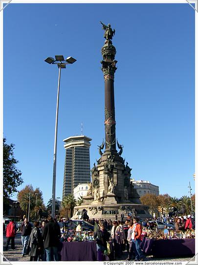 Barcelona Columbus Statue