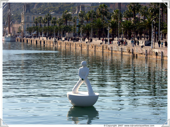Port Vell is a popular place for weekend walks
