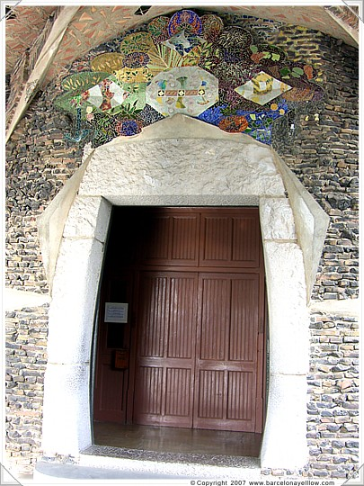 Anton Gaudi - crypt door Colonia Guell