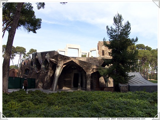 Crypt entrance of church of Colonia Güell