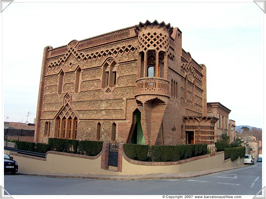 One of the houses built for Colonia Guell