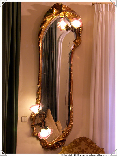 Mirror designed by Gaudi