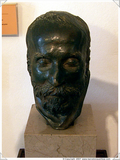 Death mask of Anton Gaudi in Barcelona