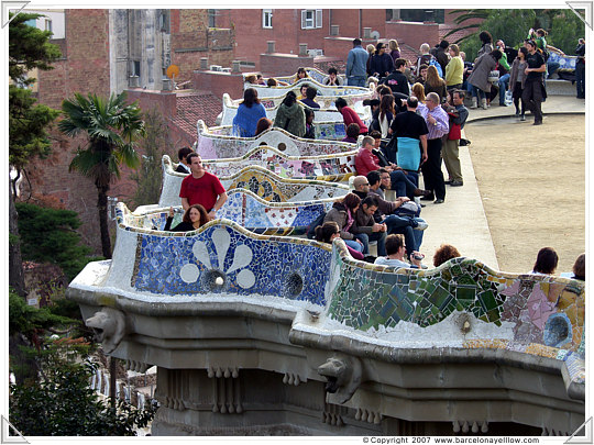 The serpent bench in Park Guell Barcelona