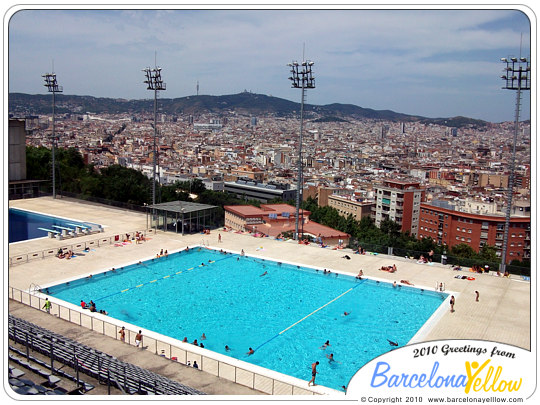 Barcelona 2015 olympic diving swimming pool montjuic - Olympic swimming pool opening hours ...