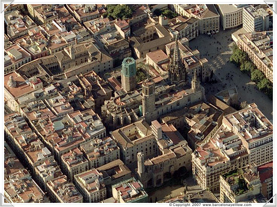 Barcelona aerial photos