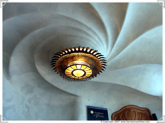Ceiling in main room of Casa Batllo Barcelona