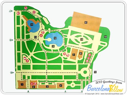 Map Parc de la Ciutadella Barcelona