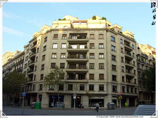 Typical building Eixample district of Barcelona