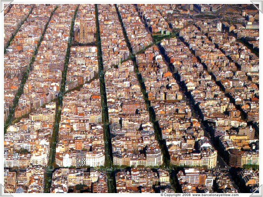 Barcelena Eixample grid