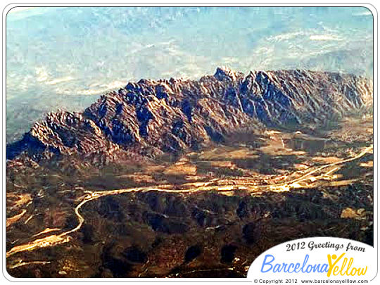 Montserrat mountain aerial view