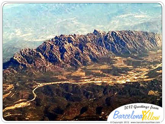 Montserrat mountain aerial view