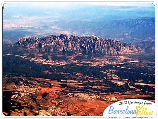 Montserrat mountain from air