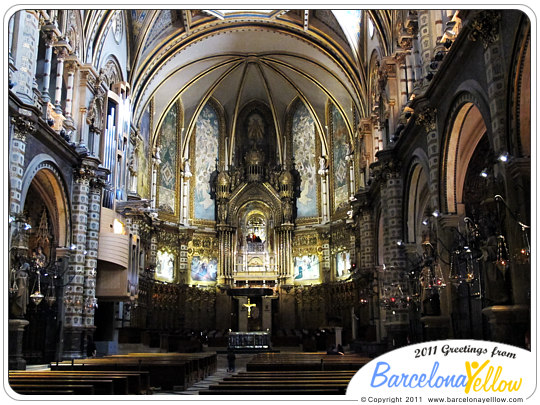 Basilica de Montserrat monastery interior of church