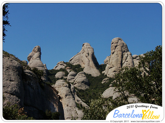 Montserrat mountain rock formation
