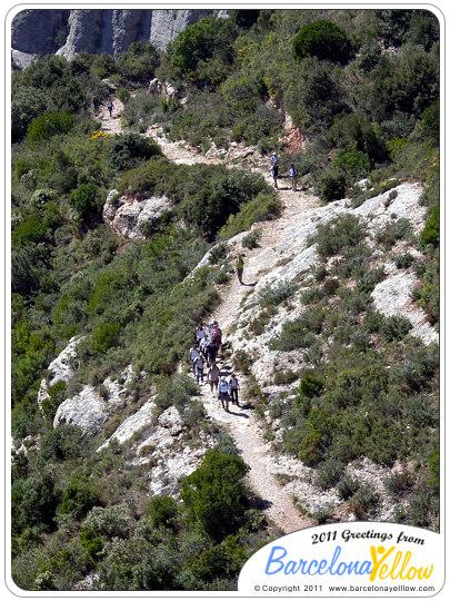 Montserrat mountains hiking