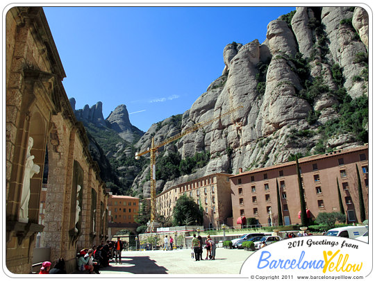 Montserrat monastery plaza