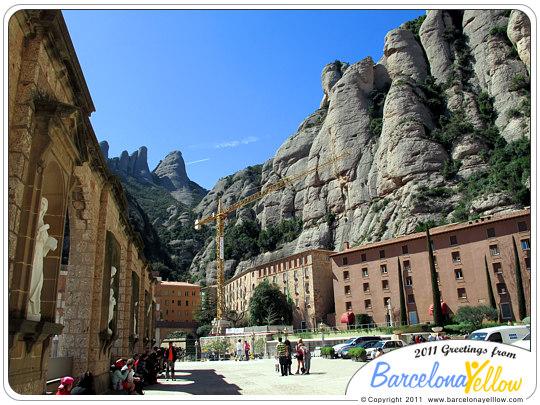 Montserrat monastery plaza