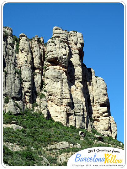Rock formation Montserrat mountain