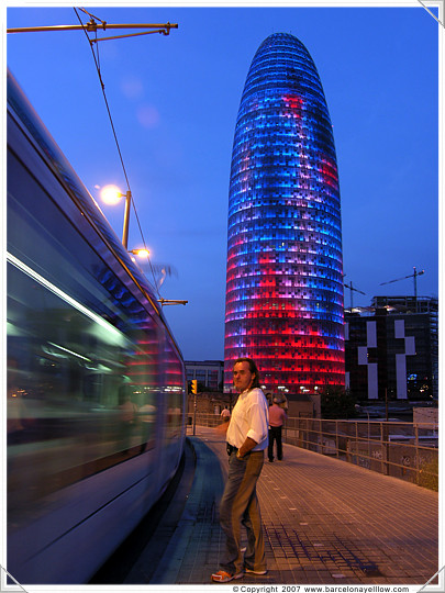 Agbar Tower - Barcelona Illuminated