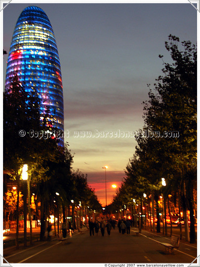 Barcelona sunset Torre Agbar