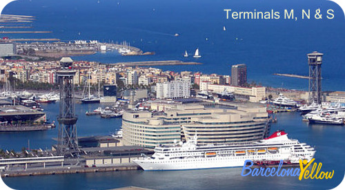 Cruise terminals M, N & S Barcelona Port Vell