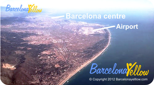 Barcelona airport aerial