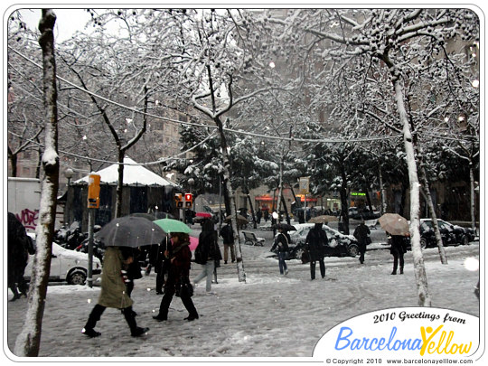 Barcelona snowstorm March 8 2010